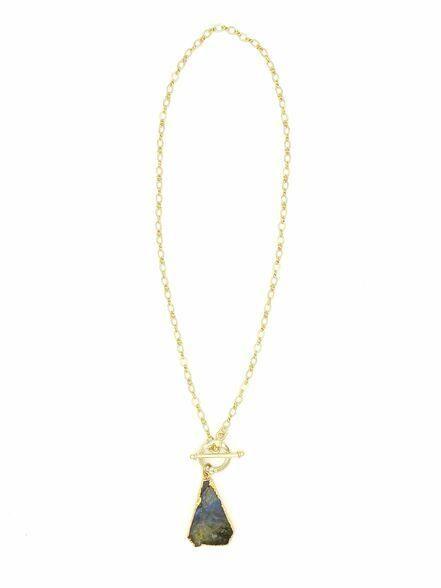 Einfache Luxus-Halskette – Labradorit