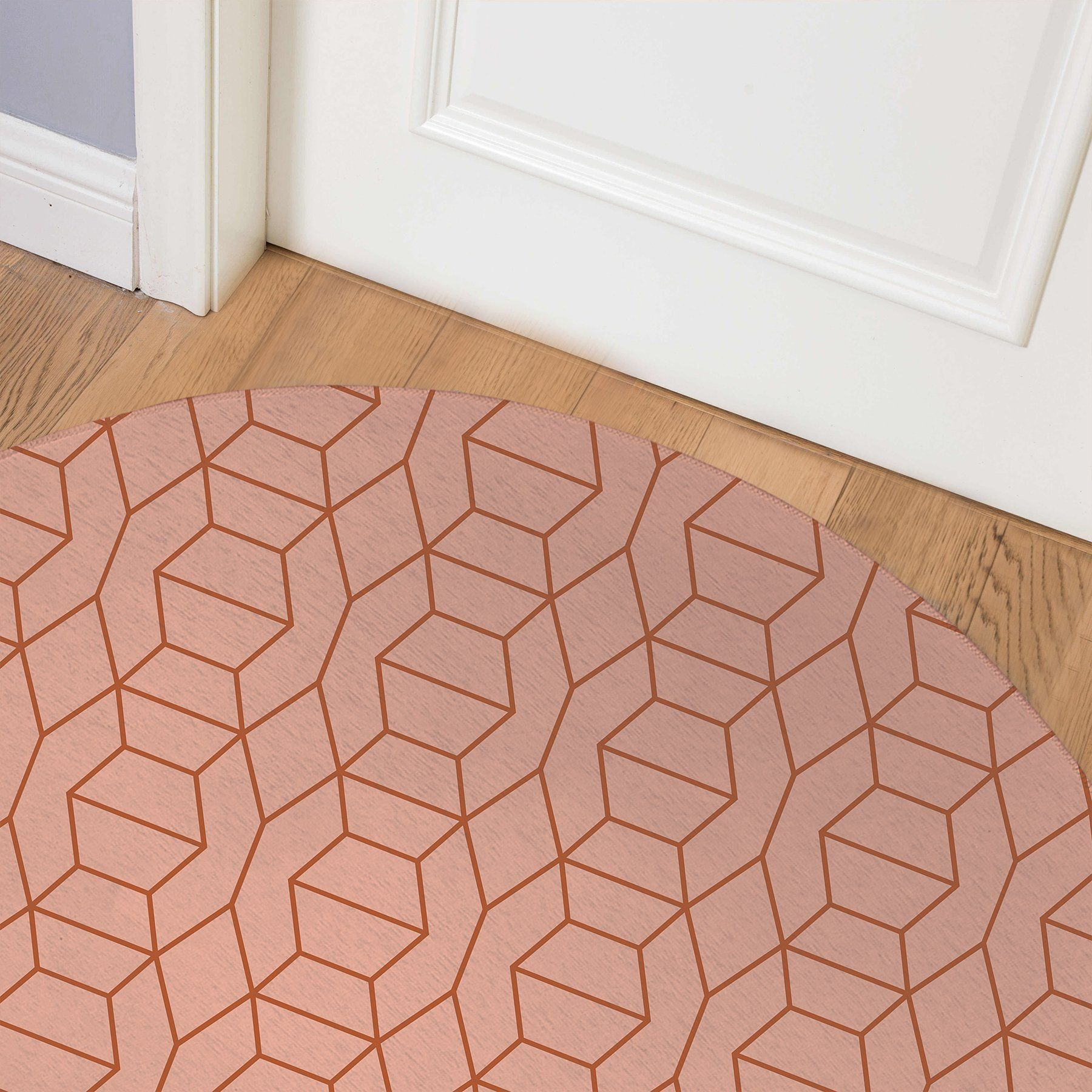COMB CORAL Indoor Floor Mat By Becky Bailey – Round 5ft x 5ft