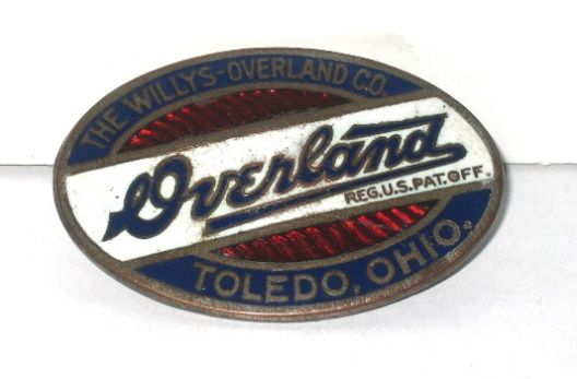 Willys Overland Car Badge Willys Overland Model 82 83 Touring