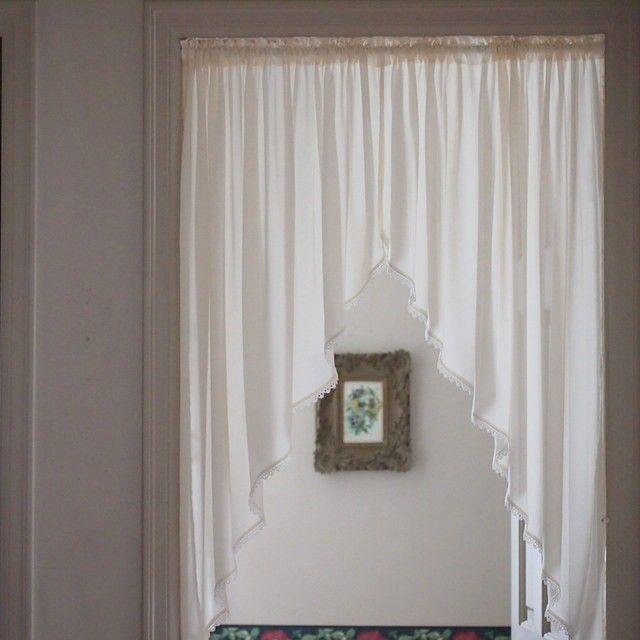 カーテン アーチ型 ホワイト 洋風 のれん 目隠し スタイルカーテン