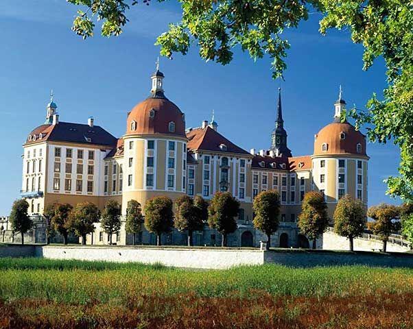 Foto Kunstdruck Jagdschloss Moritzburg Sachsen Von Voigt F1 Online Auf Glossy Normal Jagdschloss Moritzburg Schloss