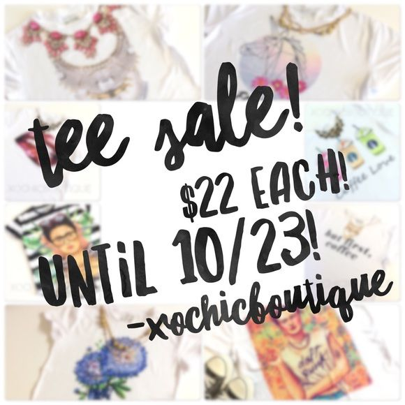 💥TEE SALE❗️$22 EACH! JUST PLACE OFFER! 💥 Happy shopping! Other
