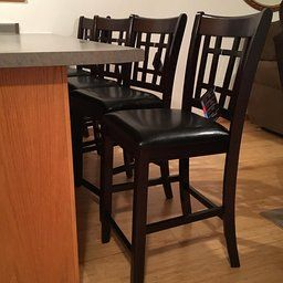 """Amazon.com: Customer Reviews: Coaster Leather-Look 2-Piece Pub Chair, 24"""" height, Cappuccino/Black"""