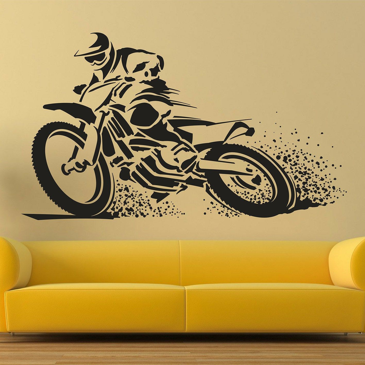 Motocross wall decal, Extreme sports vinyl stickers, Motocycle wall ...