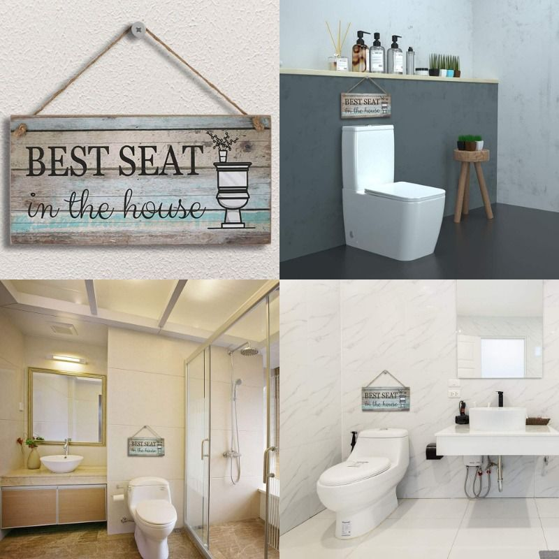 Yankario Rustic Farmhouse Wall Decor Sign for Living Room Bedroom Bathroom Ki...