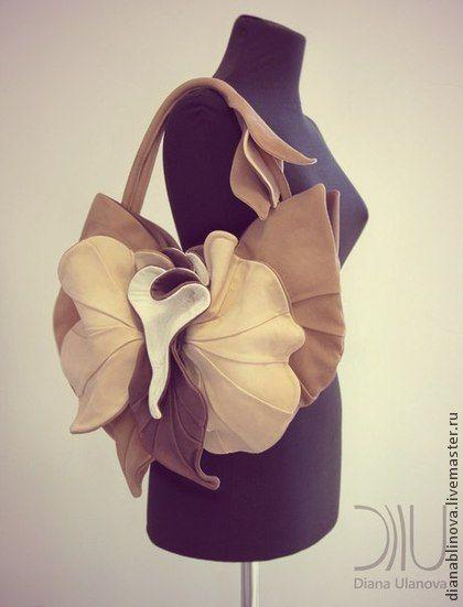 765cc4137587 Женские сумки ручной работы. Ярмарка Мастеров - ручная работа. Купить  Орхидея NEW беж. Handmade. Бежевый, натуральная кожа