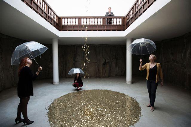 Lluvia de monedas.