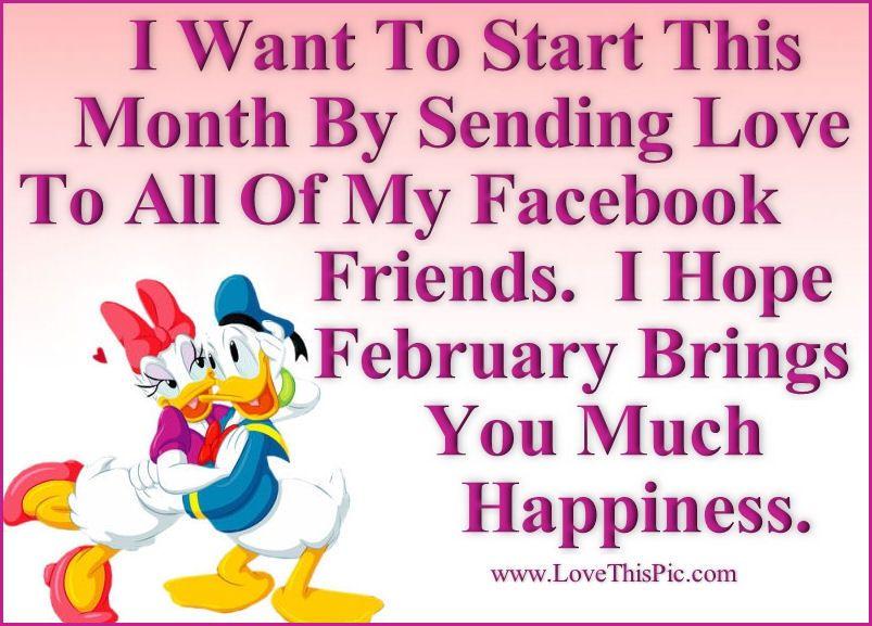 Happy February Facebook Friends | Holidays | Pinterest | Happy ...