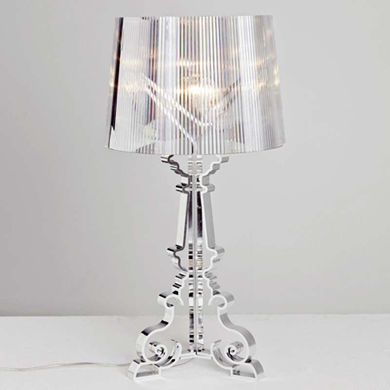 Kartell Bourgie lampada da tavolo in policarbonato trasparente nel ...