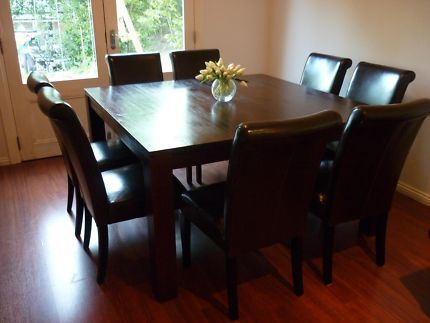 gumtree solid wood with leather back chairs Home Ideas Pinterest