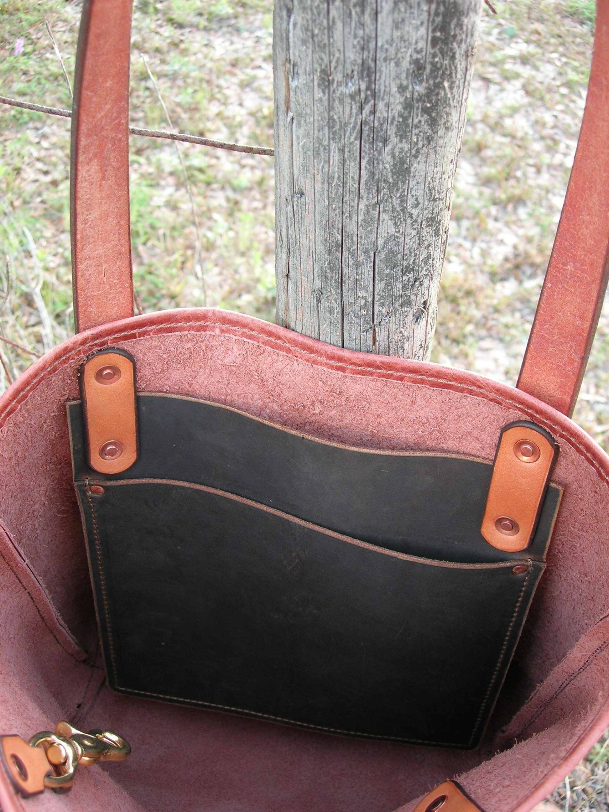 5872f0b1f21 Gibson American Bison Handmade Leather Tote Bag Purse Satchel--*ONE ...
