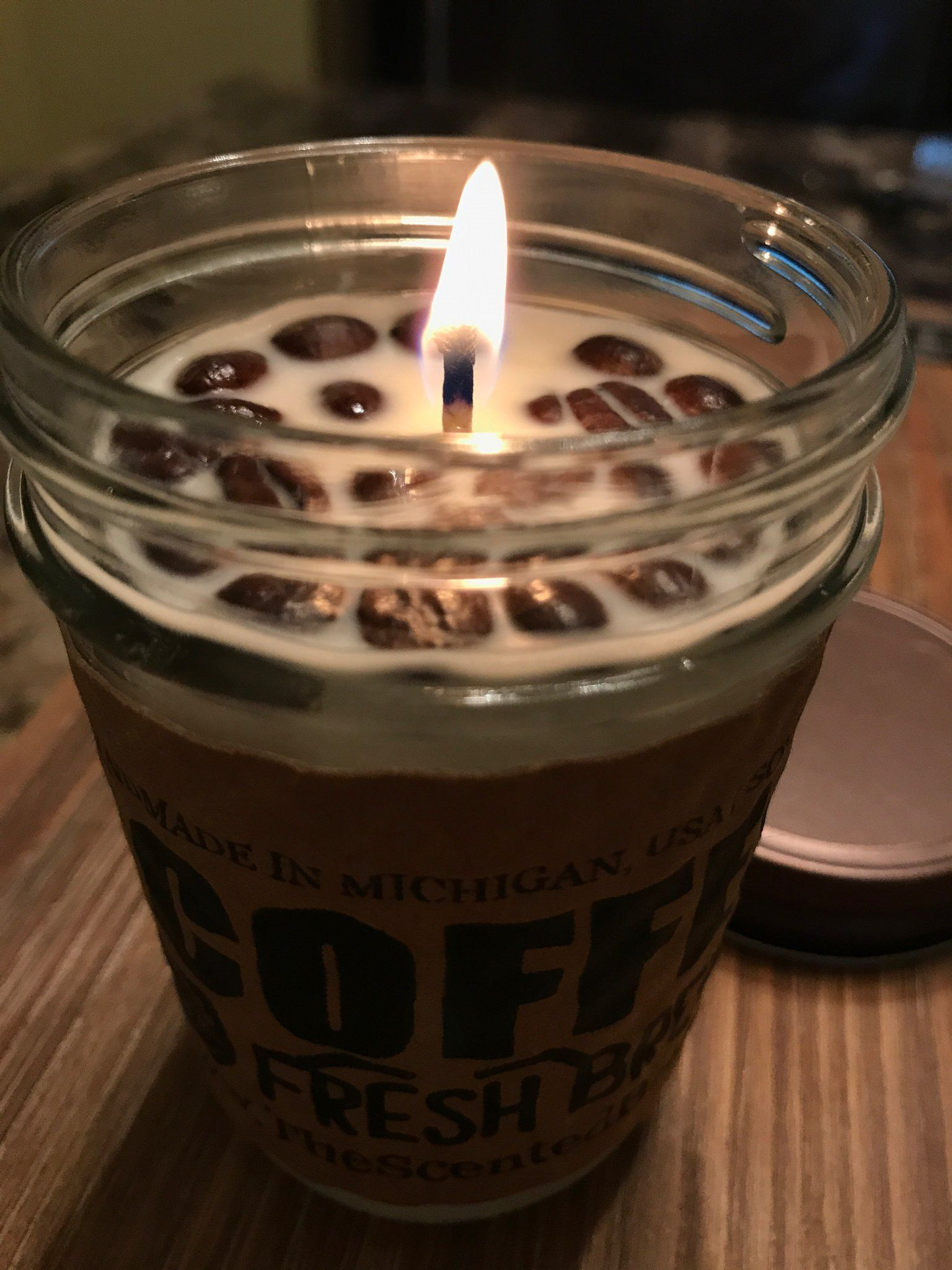 French vanilla coffee soy candle coffee candle coffee