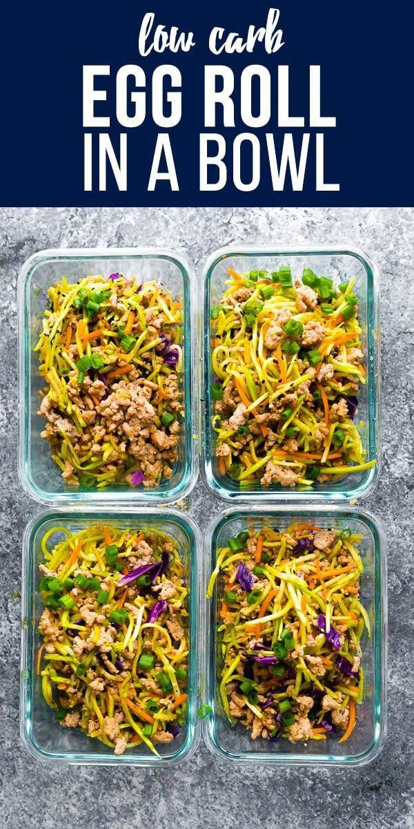 Egg Roll In A Bowl Recipe Healthy Meal Prep Meals