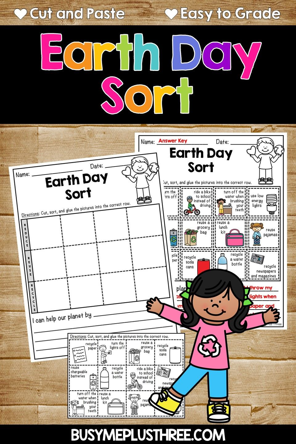Earth Day Sort Distance Learning For Google Classroom Reduce Reuse Recycle Sorting Activities Earth Day Earth Day Worksheets