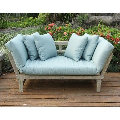 Cambridge Silversmiths Casual Westlake Convertible Sofa Daybed With Cushion Teal Products In 2019 Daybed Sofa Outdoor Sofa