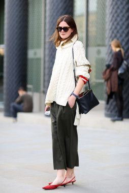 Mandatory Credit: Photo by Silvia Olsen/REX/Shutterstock (5114714v) Street Style Street Style, Spring Summer 2016, London Fashion Week, Britain - 19 Sep 2015