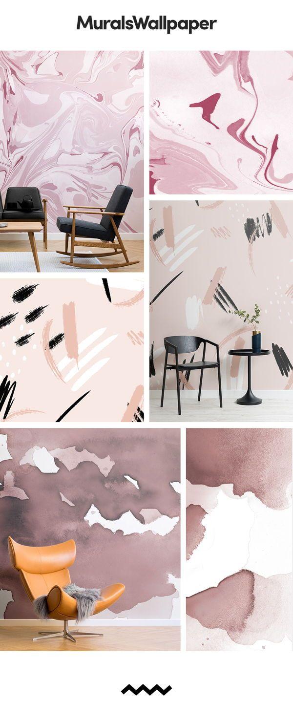 Ein Rosa Wallpaper Wandbild Kann Eine Sehr Positive Auswirkungen Auf Ihren  Raum Haben, Das Gefühl Der Ruhe Zu Schaffen, Hilft Stress Und Spannungenu2026
