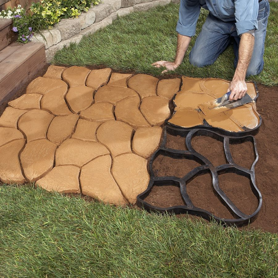 Garden Stepping Stones Lowes Shop scepter pathmate random stone concrete mold at lowes yard shop scepter pathmate random stone concrete mold at lowes workwithnaturefo