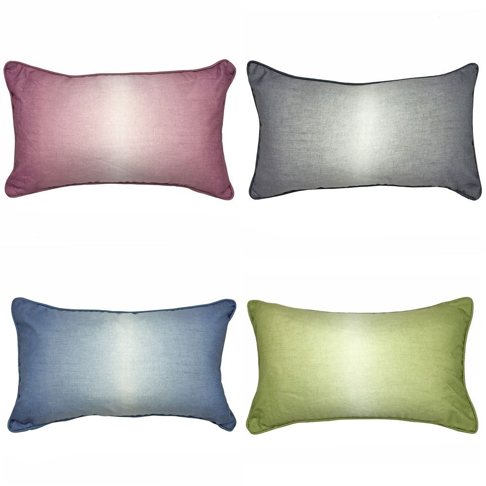 Modern Cushion Cover with Watercolour Ombre Print & Reverse – 28x48 cm