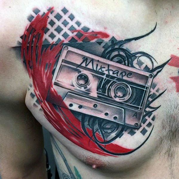 Photo of 50 Cassette Tape Designs For Men – Retro Ink Ideas – Man Style | Tattoo