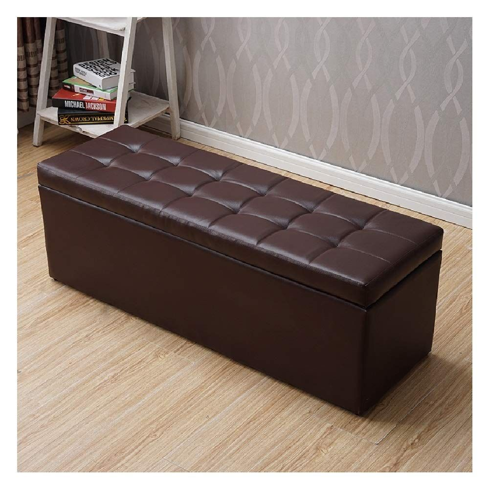 Sxrkrcyy Storage Ottoman Bench Folding Storage Ottoman Seat Stool Toy Storage Box Faux Leather In 2020 Folding Storage Ottoman Storage Ottoman Bench Storage Ottoman