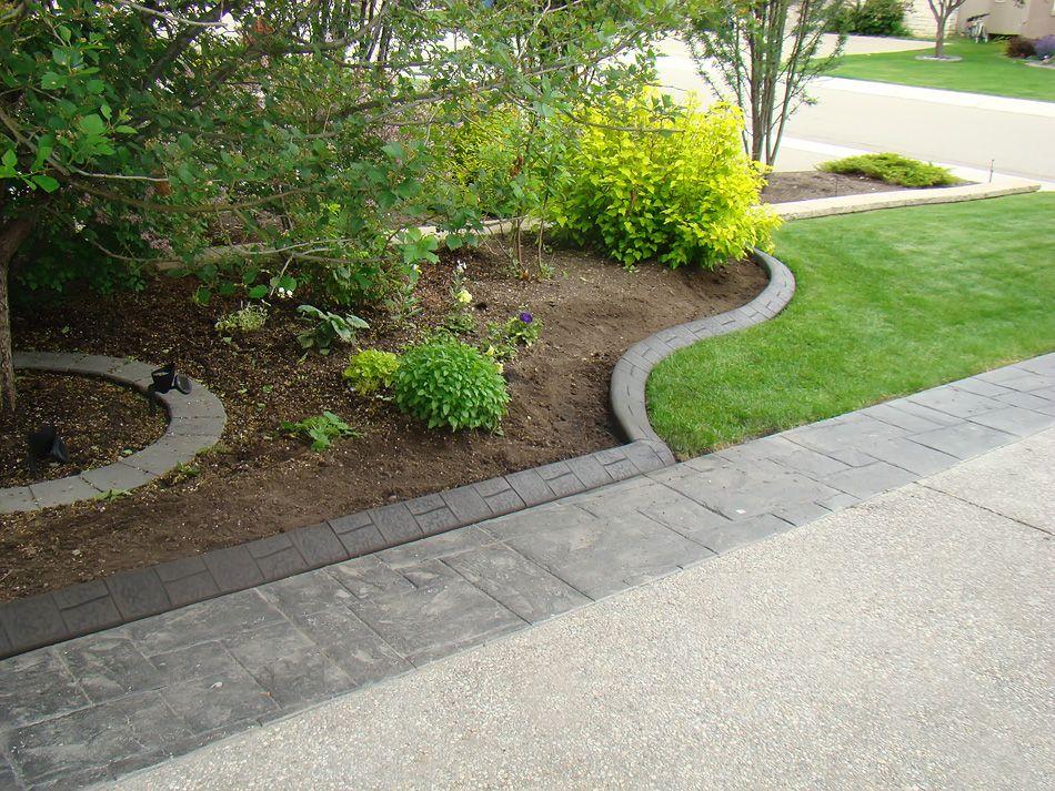 flower bed edging landscape ideas Landscaping with rocks
