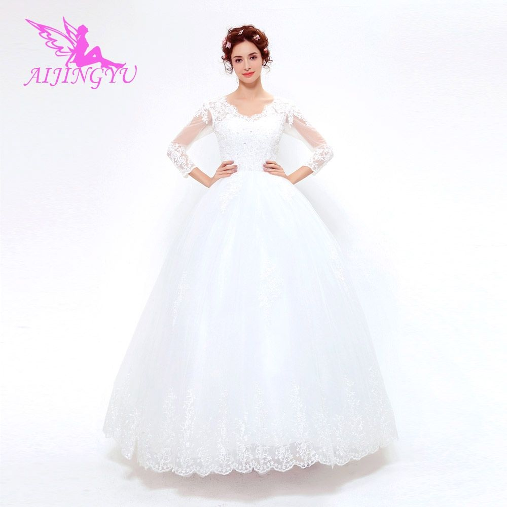 Long sleeve maternity wedding dresses  AIJINGYU  new free shipping china bridal gowns cheap simple