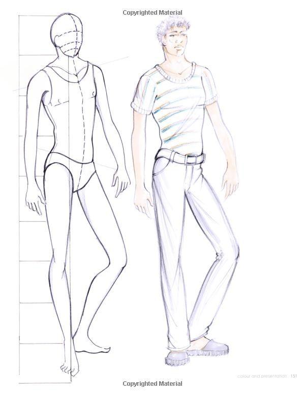 Fashion Design Sketch Model Male 2015,2016