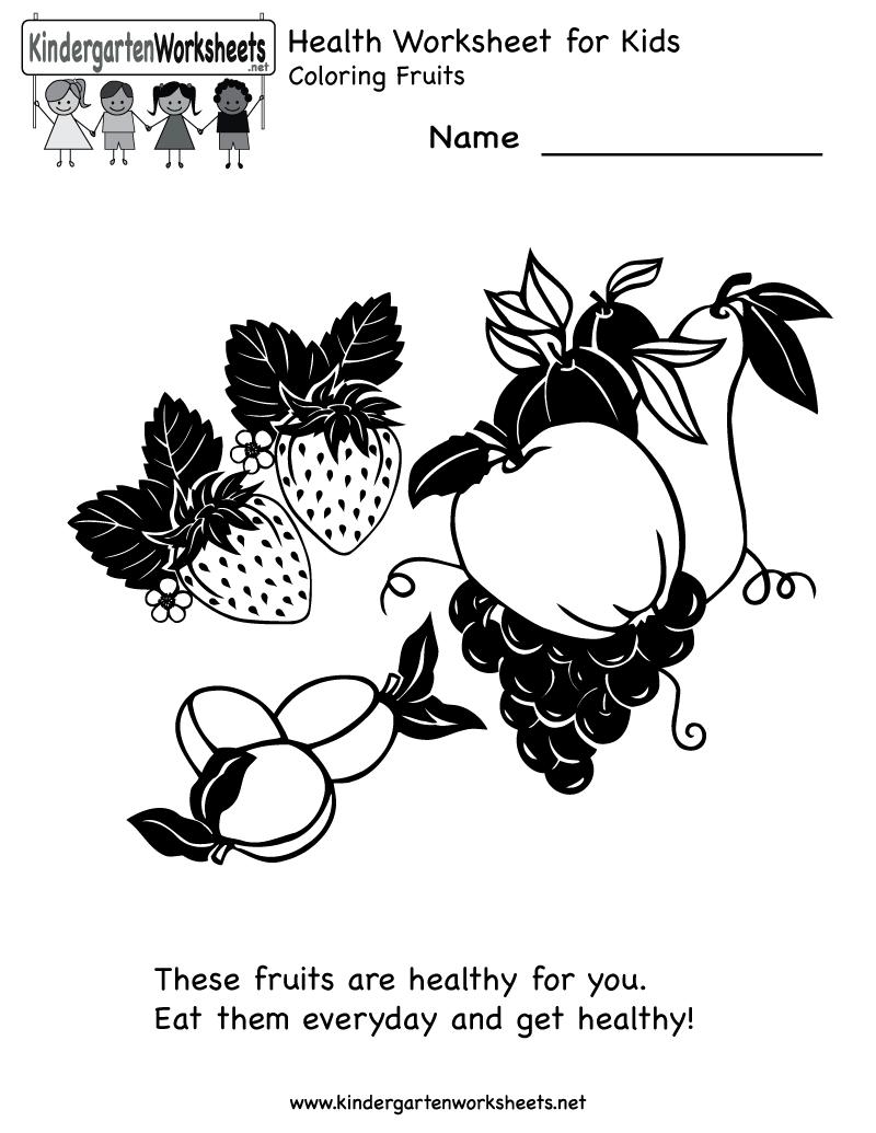Kindergarten Health Worksheet Printable Worksheets Legacy