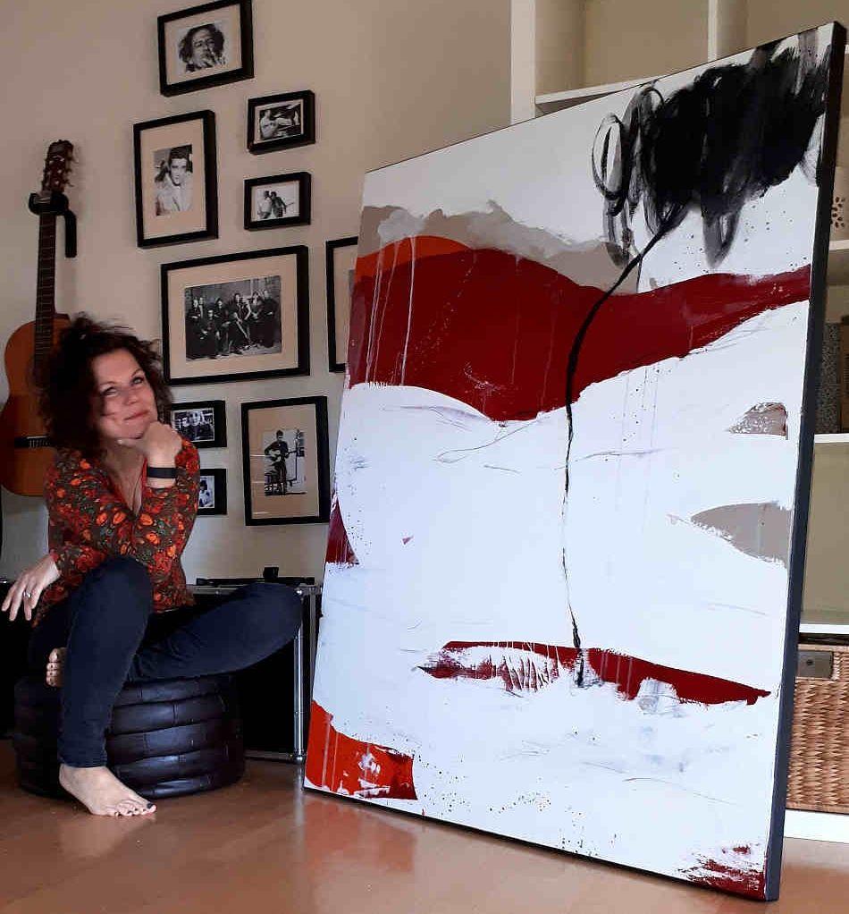 gro e bilder malen lassen a female artists 7 pinterest abstrakte malerei malerei and. Black Bedroom Furniture Sets. Home Design Ideas