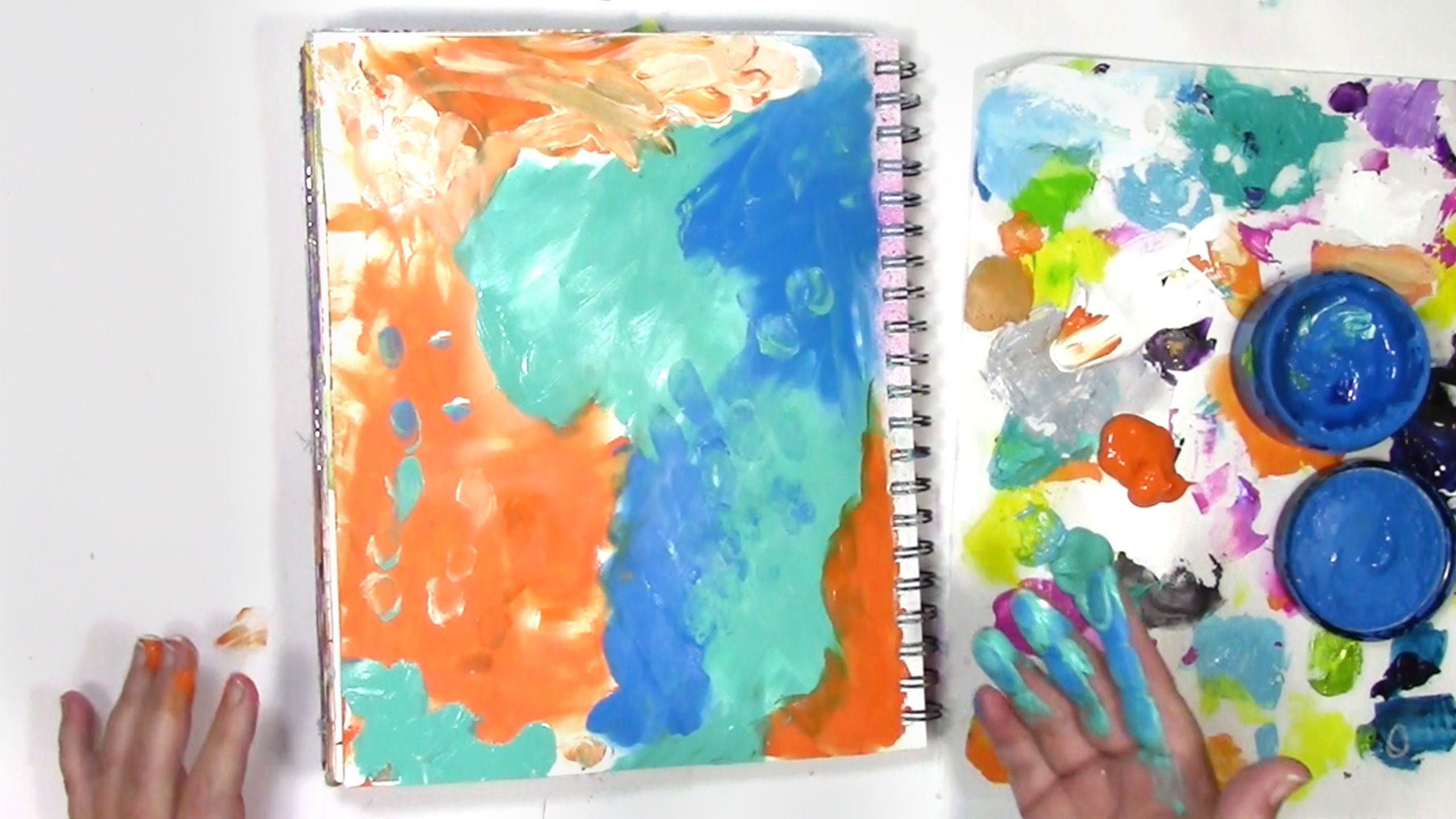 How To Finger Paint To Create An Art Journal Background