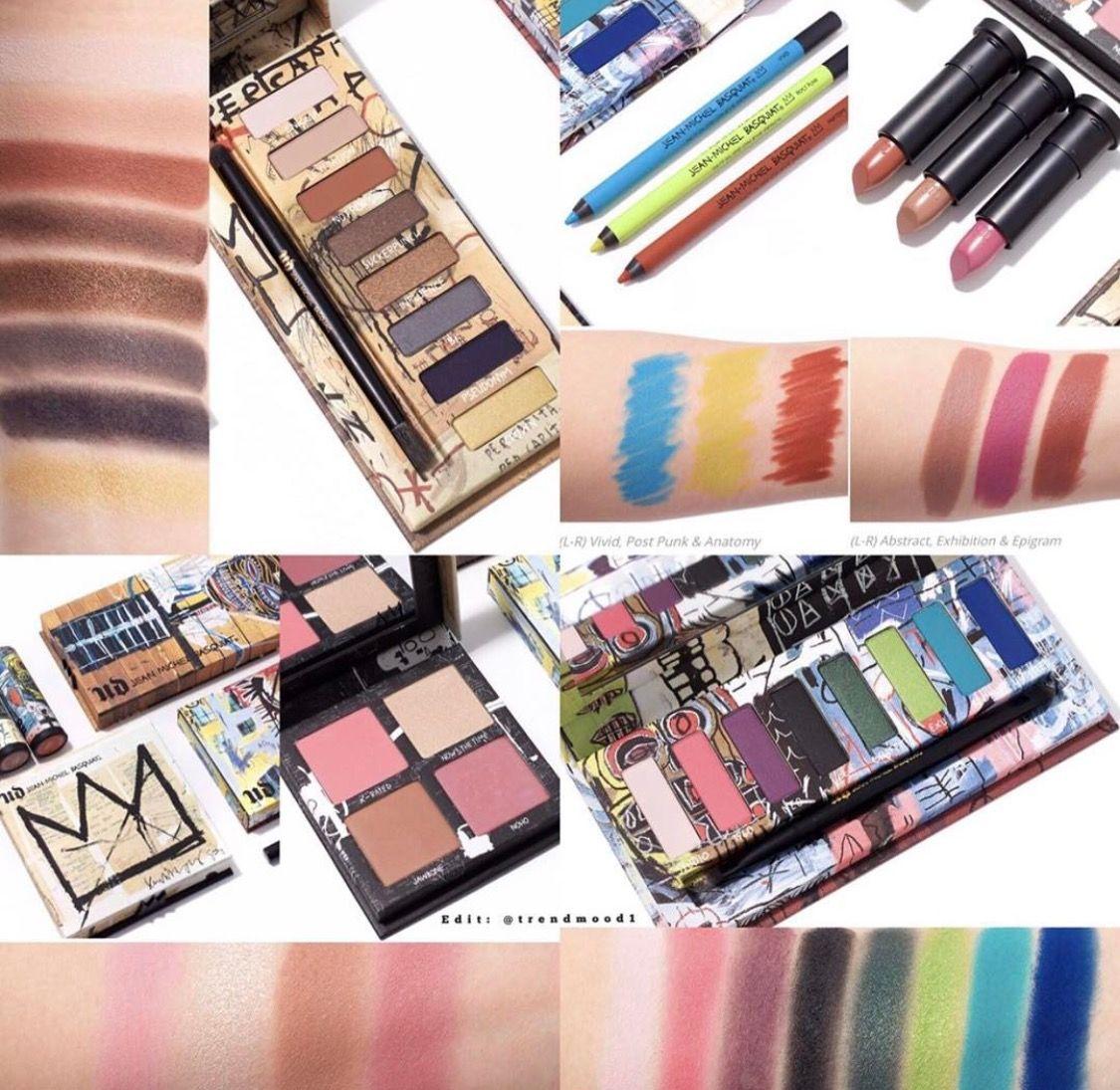 Urban Decay x Basquiat | swatches in 2018 | Pinterest | Makeup ...