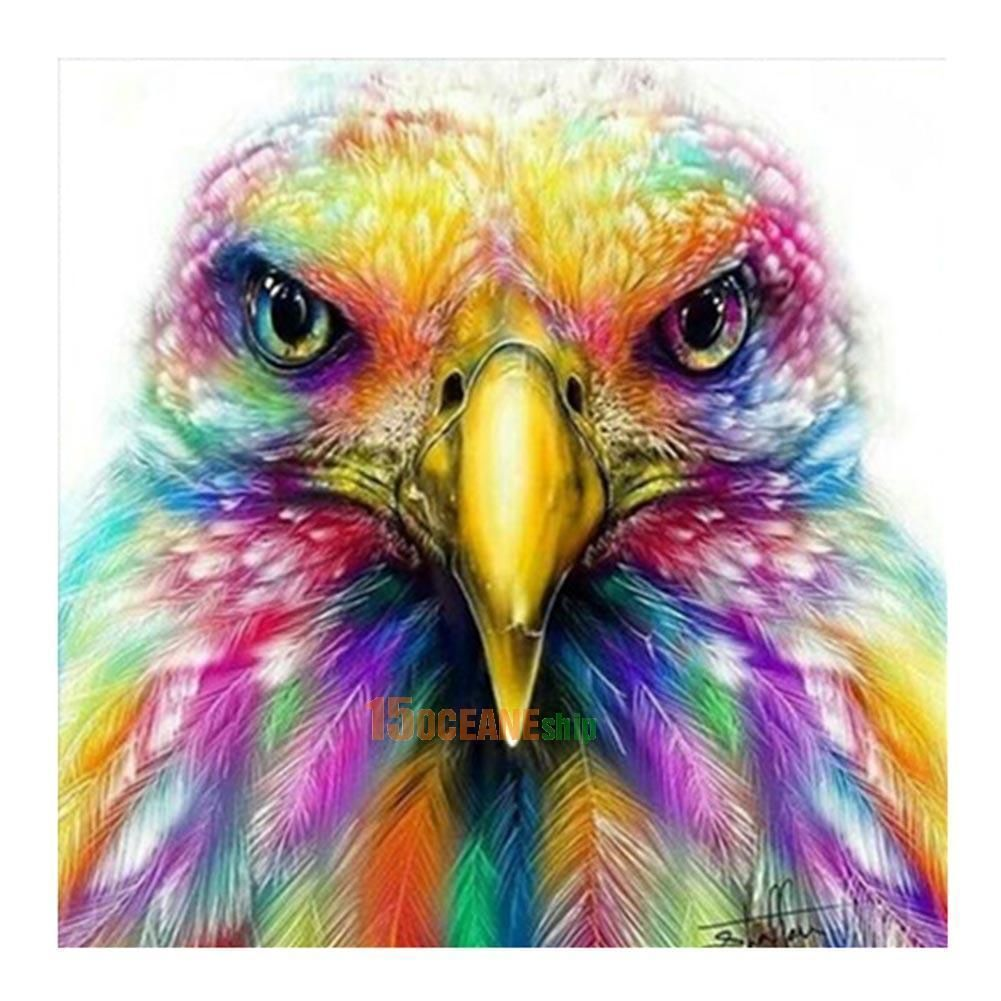 colorful eagle 5d diamond painting embroidery cross stitch diy kit decor gift