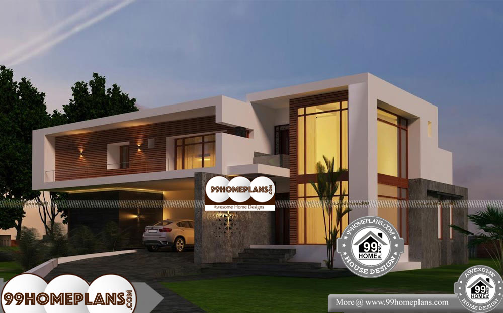 Urban House Plans Narrow Lot Double Floor New Contemporary Homes Contemporary House House Plans Beautiful Home Designs