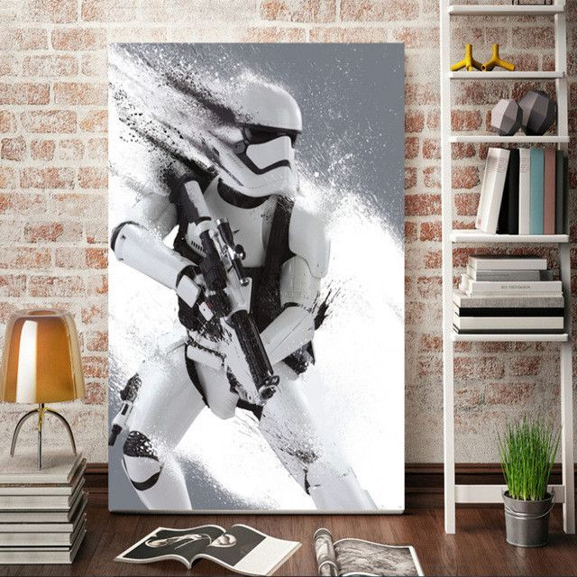 Home Decorative Item Painting Endearing Morden Wall Art Stormtrooper Star Wars Movie Poster Home Decor . Inspiration Design