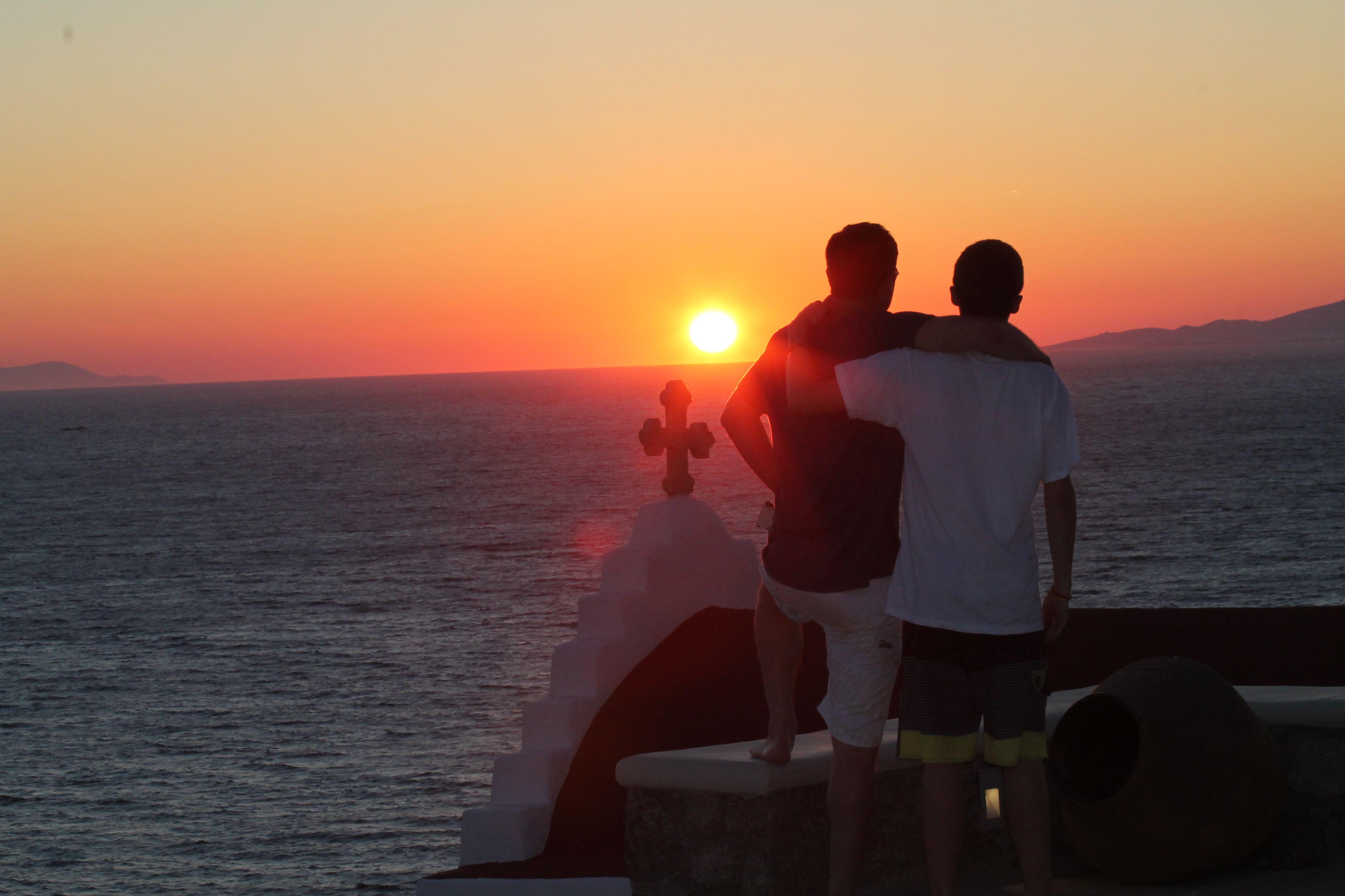 Suset In Mykanos Sunset Celestial Outdoor