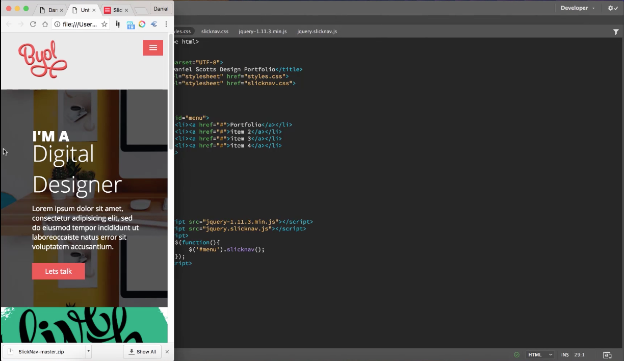 Learn To Create A Hamburger Menu For Your Mobile Site Using Adobe Dreamweaver Cc With Coding For Designers From Total Training Dreamweaver Cc Coding Design