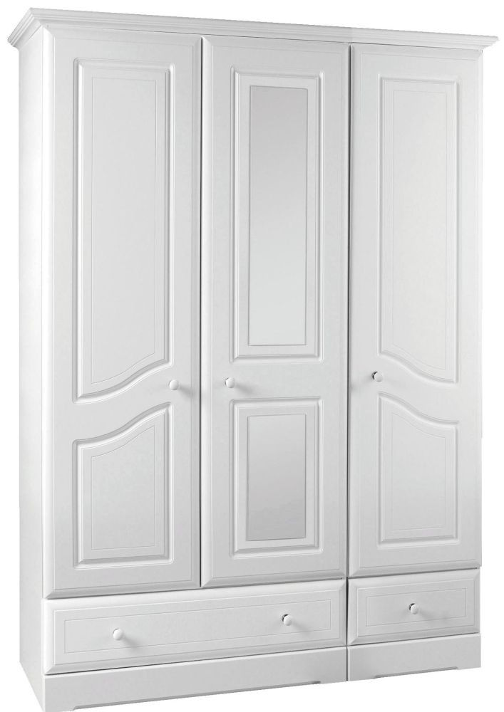 Kingstown Nicole White Gents Wardrobe - 3 Door with Center Mirror  sc 1 st  Pinterest & Kingstown Nicole White Gents Wardrobe - 3 Door with Center Mirror ... pezcame.com