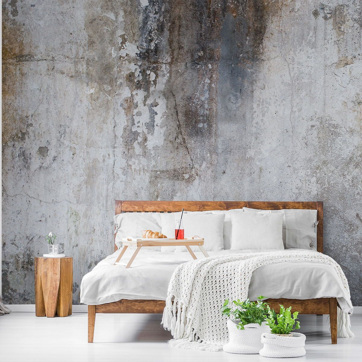 Give Your Room That Show Stopping Feature Wall With A Custom Made Wallpaper Mural From Wallsauce In 2020 Concrete Wallpaper Mural Wallpaper Wood Effect Wallpaper