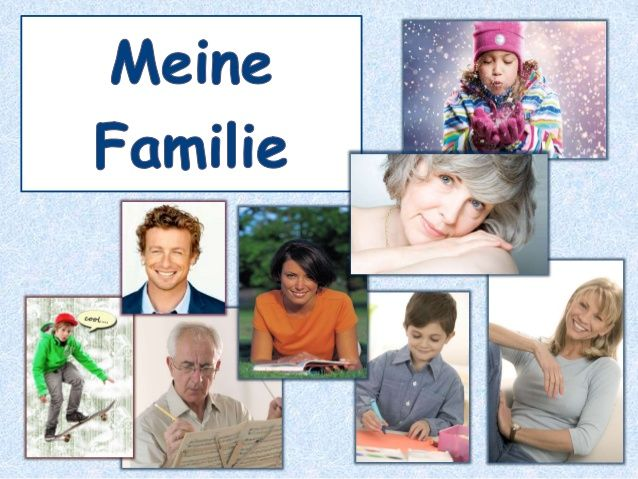 Meine Familie A1 | Familie | Pinterest | German and Education