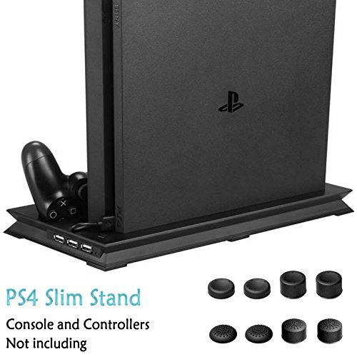 Advcer Ps4 Slim Vertical Stand With Dual Cooling Fan Controller