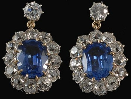 Victorian Ceylon Cornflower Blue Sapphire And Diamond Earrings Stunning Pair Of Earrings That Sapphire And Diamond Earrings Beautiful Jewelry Antique Jewelry