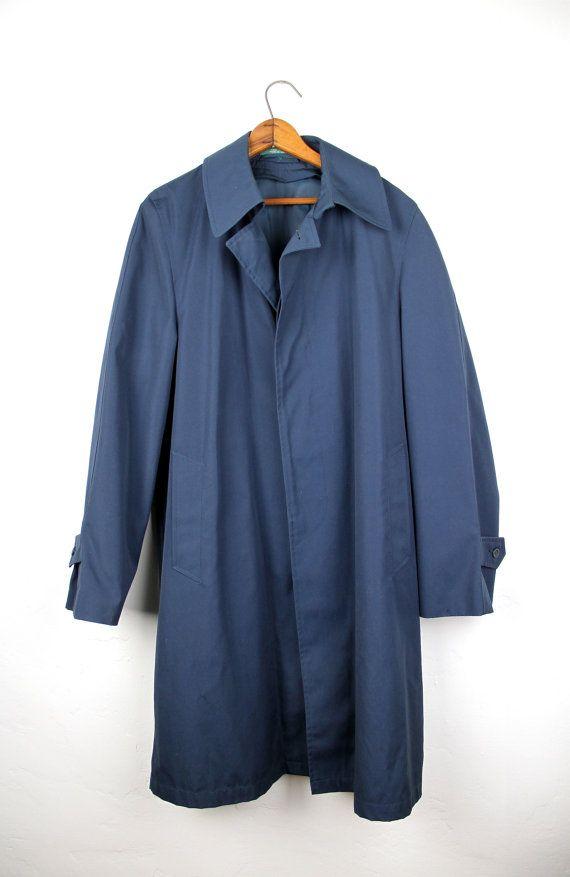 Unisex raincoat blue 'Line' SrCbkI