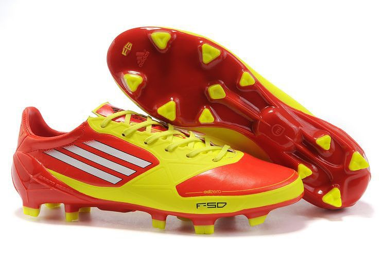 new product 609b9 f1c36 Adidas F50 Adizero TRX FG Soccer Cleats Yellow Red White