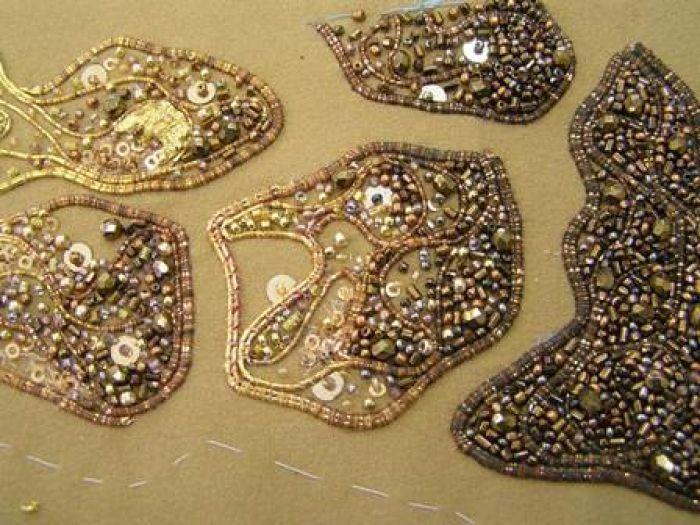 Goldwork plus beads from Royal Needlework
