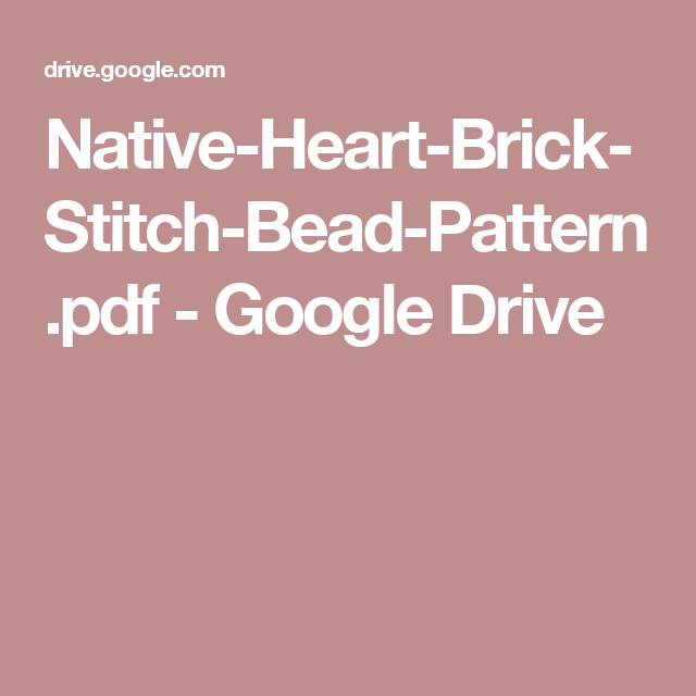 Native heart brick stitch bead patternpdf google drive beading native heart brick stitch bead patternpdf google drive american food recipesnative forumfinder Images