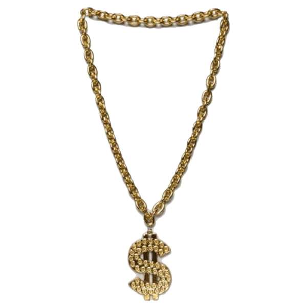 Thug Life Gold Chain Dollar Gold Chains Real Gold Chains Gold