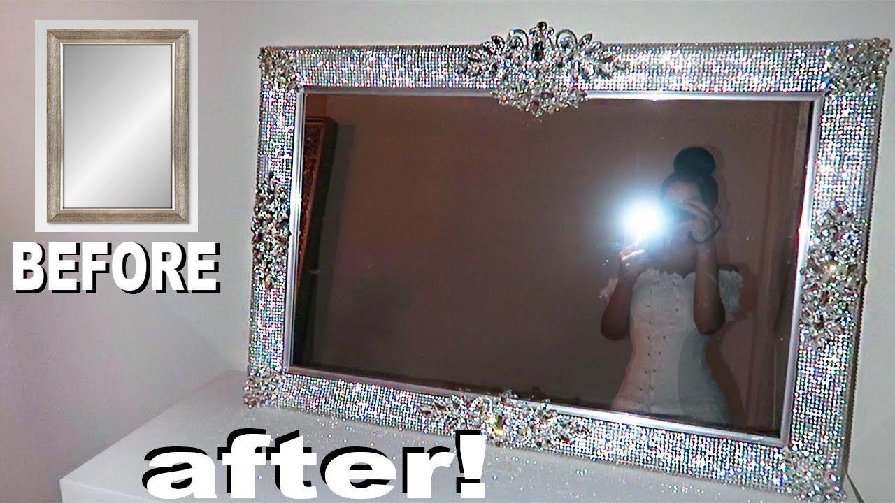 Diy Rhinestone Vanity Mirror