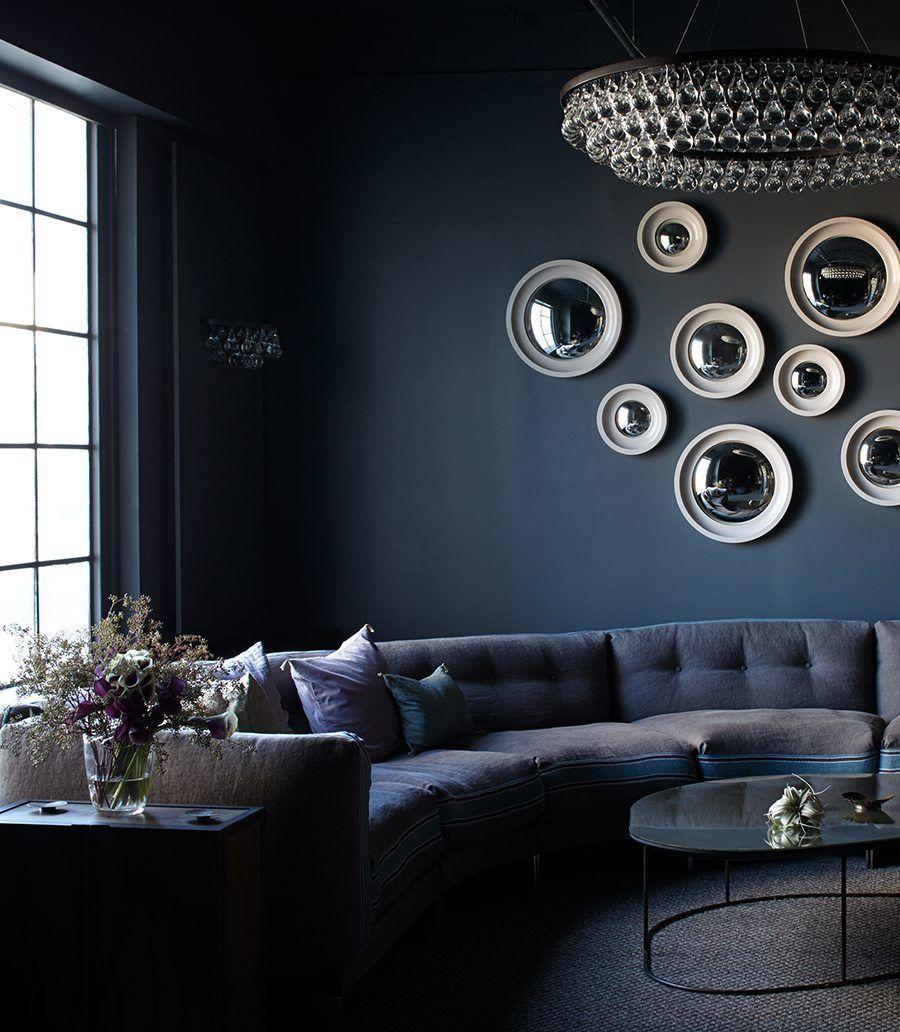 Contemporary chandelier ARCTIC PEAR : DOUBLE WAVE OCHRE