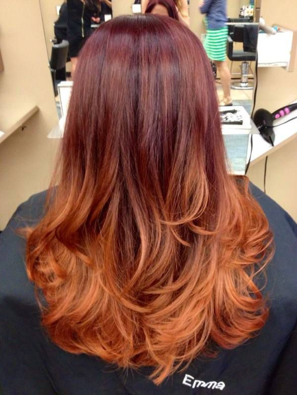 Super We call this Pumpkin Spice hair | Red ombre, Auburn and Ombre ZL92
